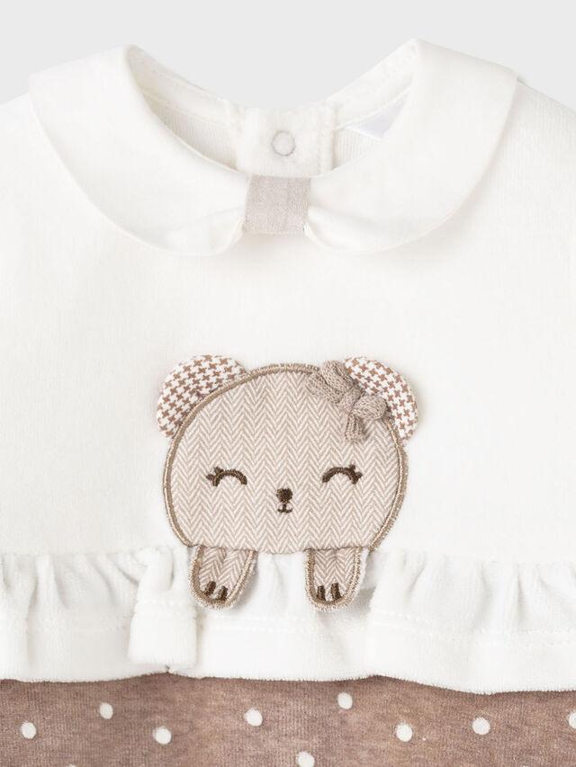 Velour Spot Babygrow