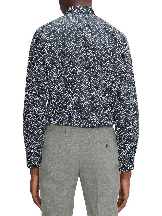 LIXAS Long Sleeve Slim Fit Hundreds Print Shirt