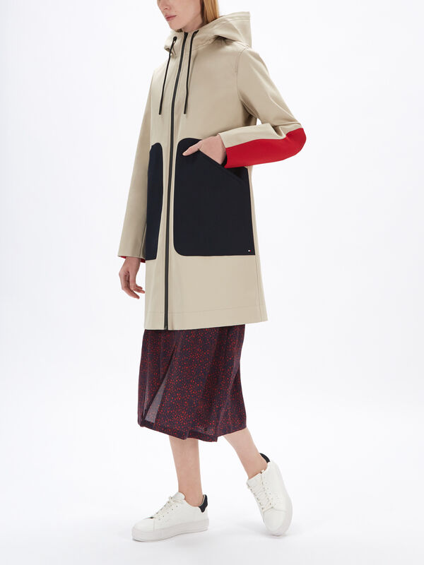 Marilyn Bonded Colourblock Parka Coat