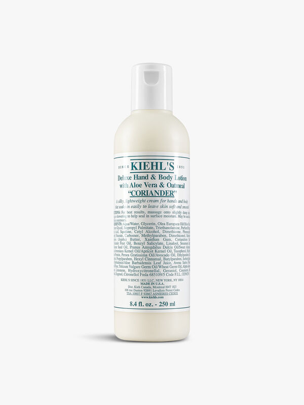 Deluxe Hand & Body Lotion With Aloe Vera & Oatmeal Coriander