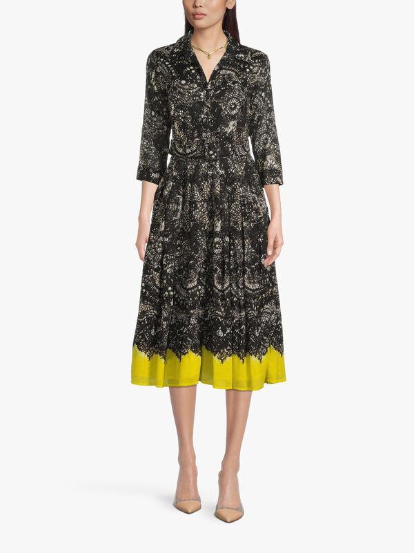 3/4 Sleeve Dior Leopard Midi Dress
