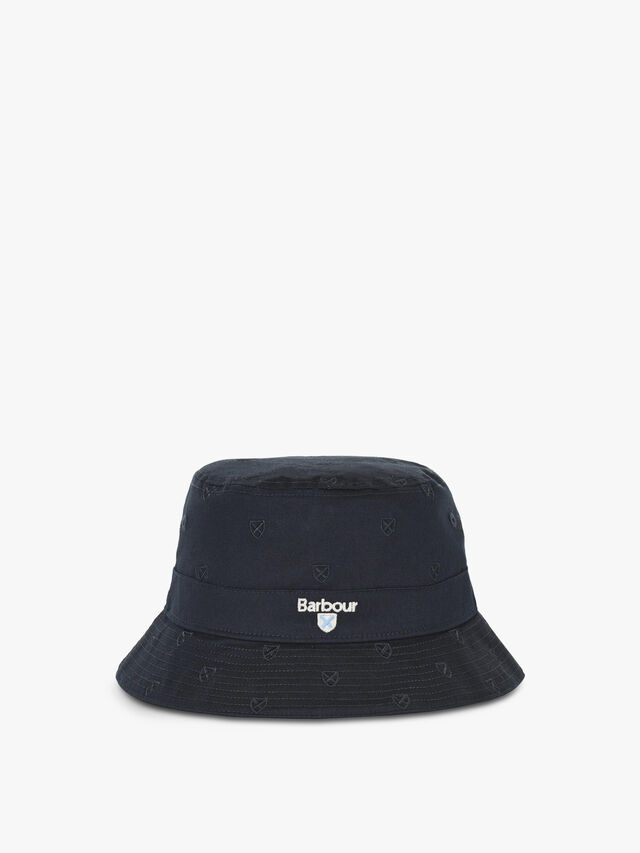 Crest Embrioded Bucket Hat
