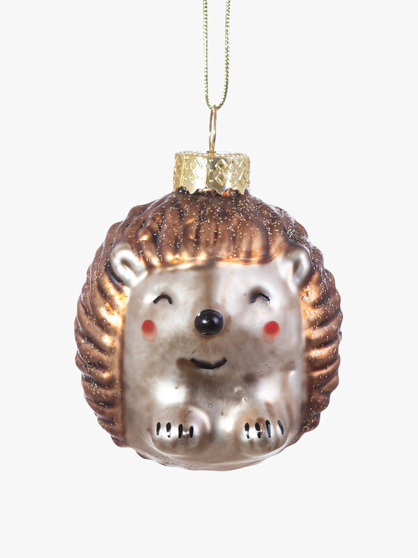 Baby Hedgehog Shaped Christmas Bauble