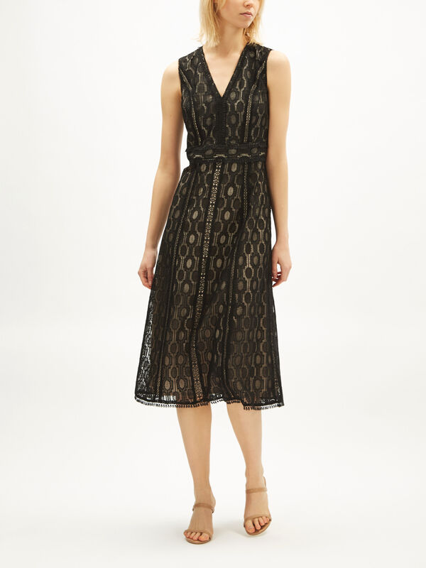 Pax Geo Crochet Dress