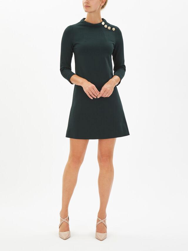 Jersey Button Tunic Dress
