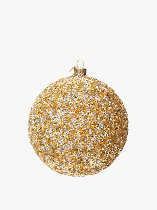 Metallic Glitter Christmas Bauble