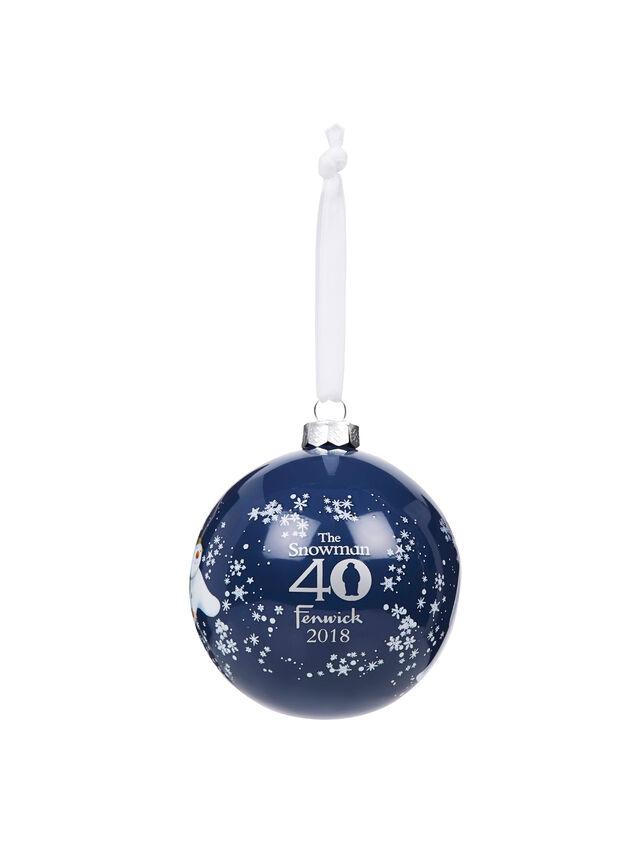 Snowman 40 Year Anniversary Bauble