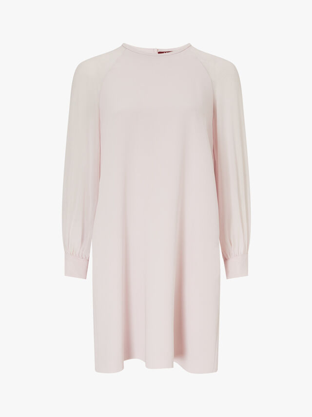 Slogan Sheer Sleeve Dress