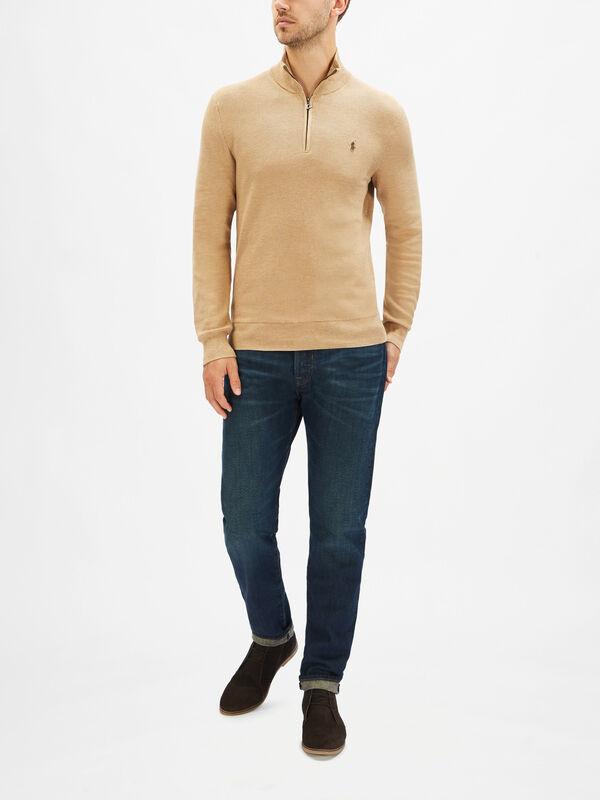 Cotton Half-Zip Sweatshirt