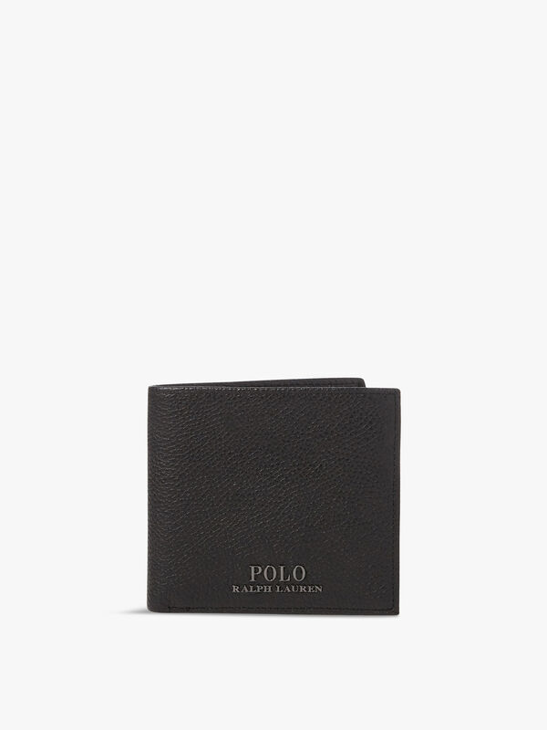 Logo Leather Billfold Coin Wallet