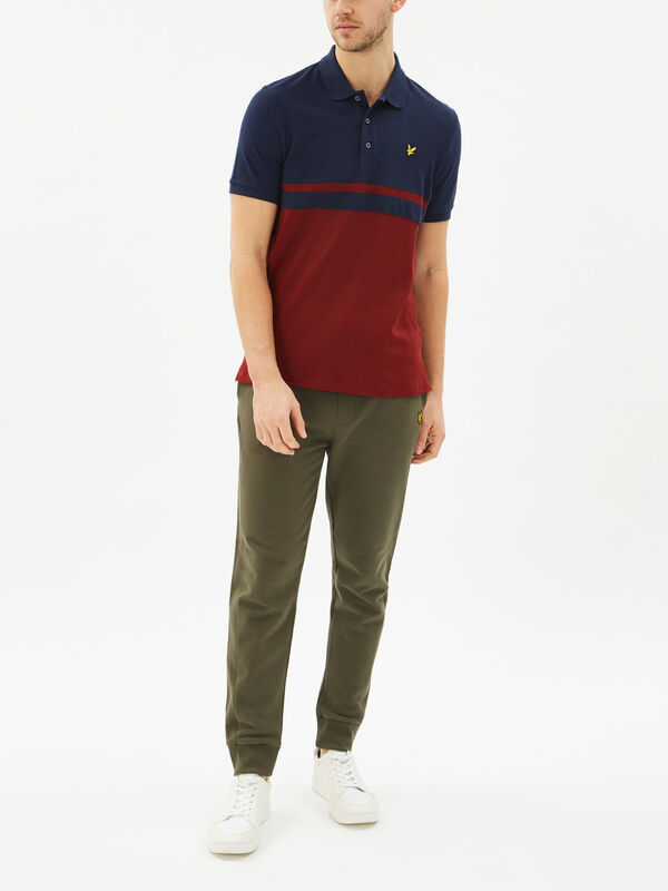Panel Stripe Polo Shirt