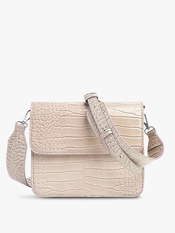 Cayman Shiny Strap Crossbody Bag
