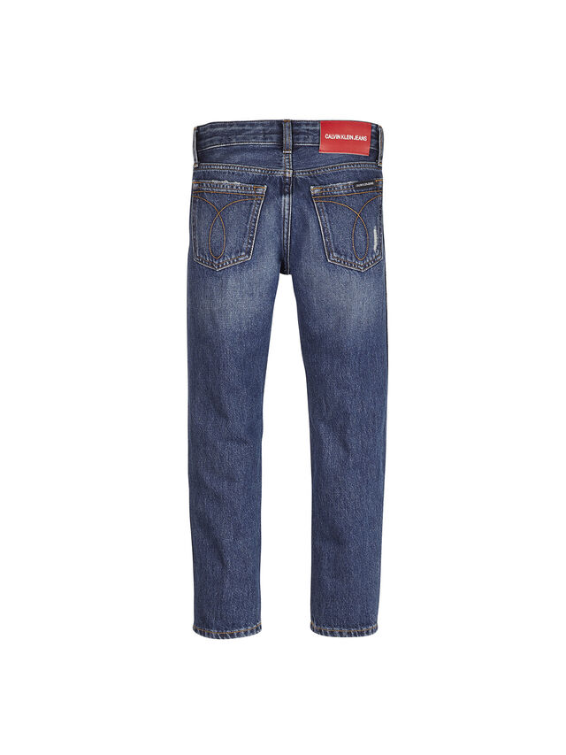 Tapered Logo Jeans