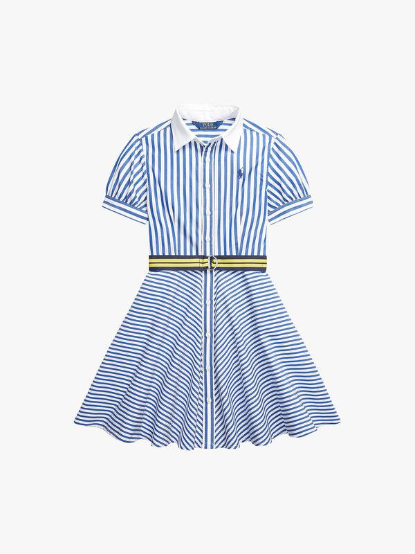 Silky Mix Stripe Day Dress