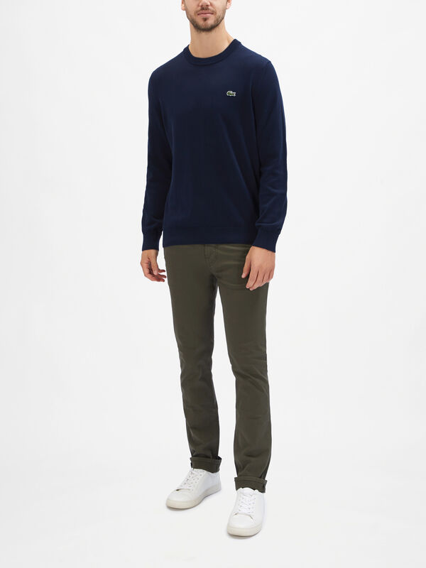 Cotton Crew Knit Sweatshirt