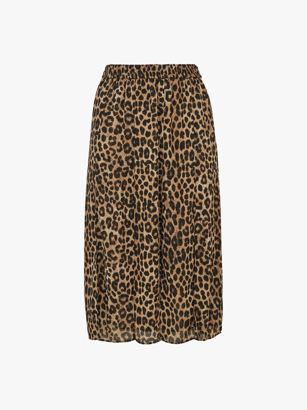 Mega Cheetah Split Skirt