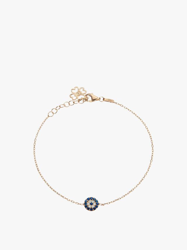 Small Round Evil Eye Bracelet