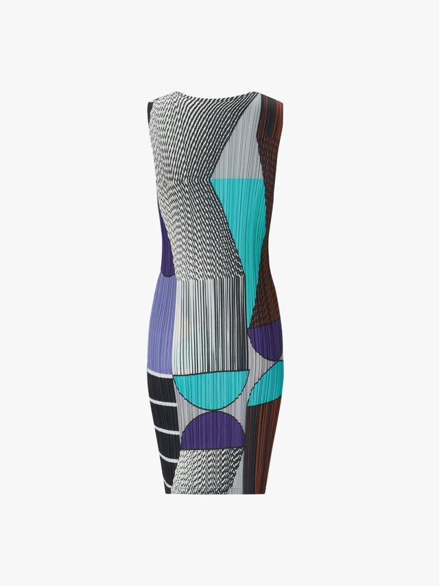 Plastic Printed Sleeveless Dress