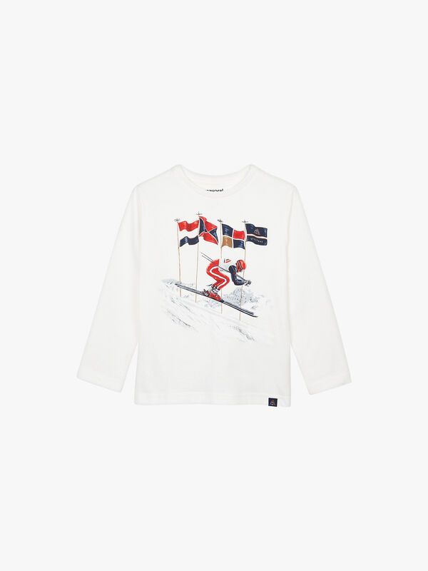 Long Sleeved Top With Ski Images