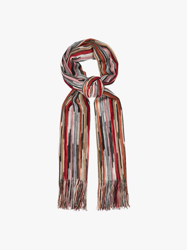 Open Weave Stripe Scarf