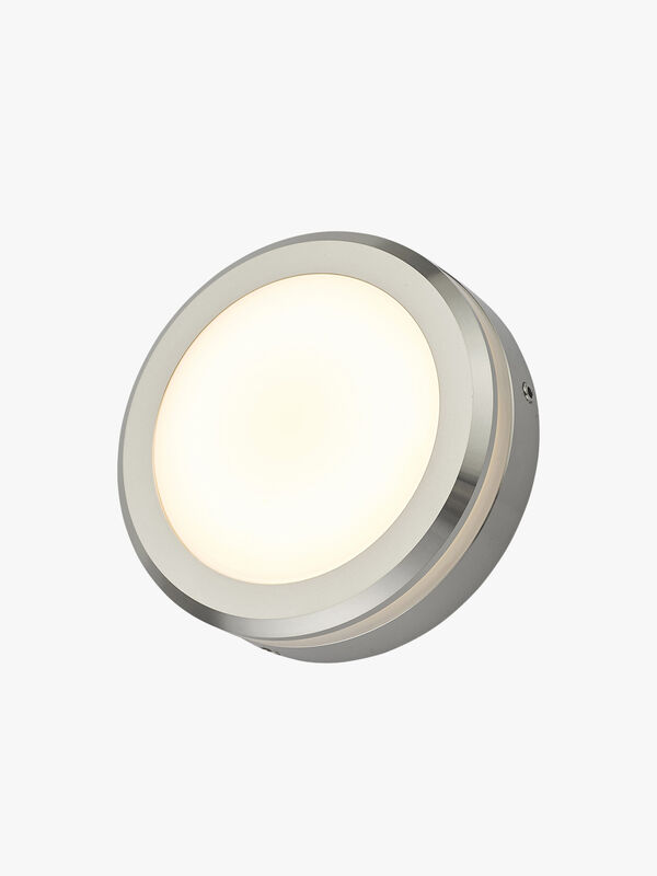 Akos Round Aluminium Outdoor LED Wall Path Light