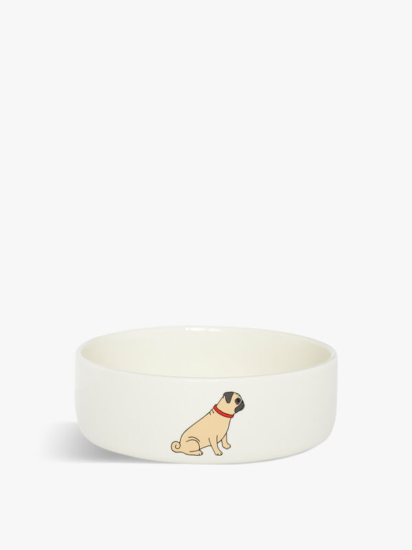 Small Pug Dog Bowl