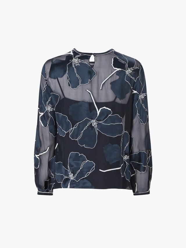 Manco Silk Floral Top
