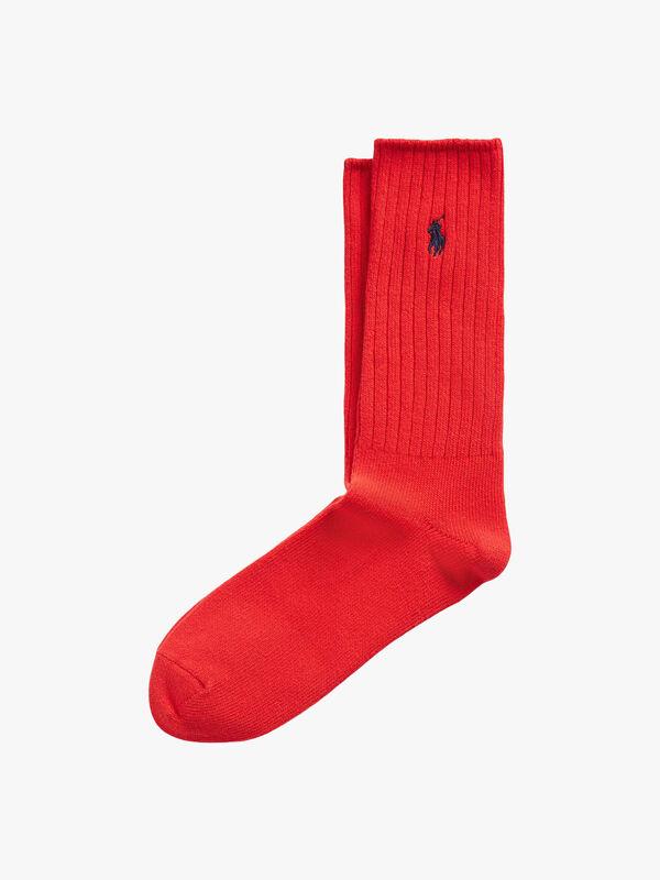 Ribbed Logo Socks