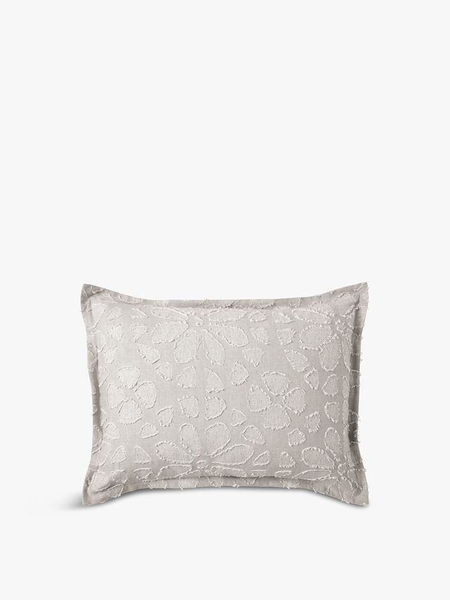 Clipped Floral Pillow Case