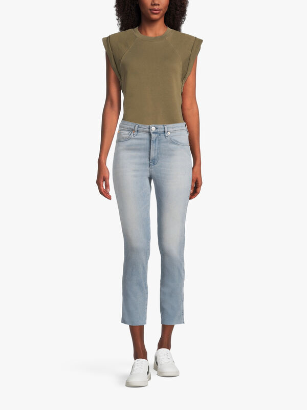 High Rise Straight Authentic Crop