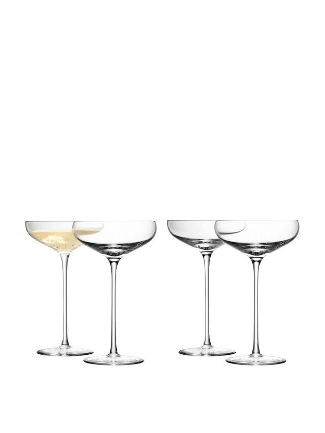 Champagne Saucer Set of 4