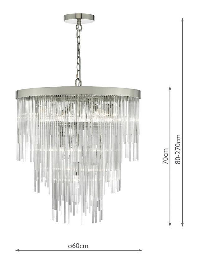 Isla 7 Light Pendant Clear