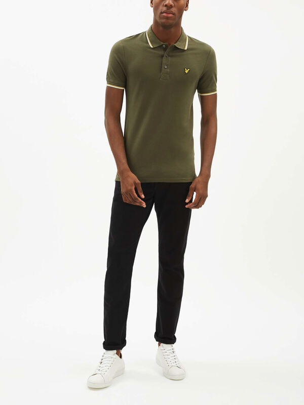 Slim Fit Tipped Polo Shirt