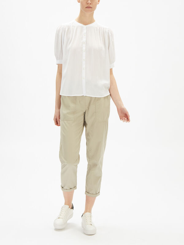 Adele Rayon Challis Short Sleeve Top
