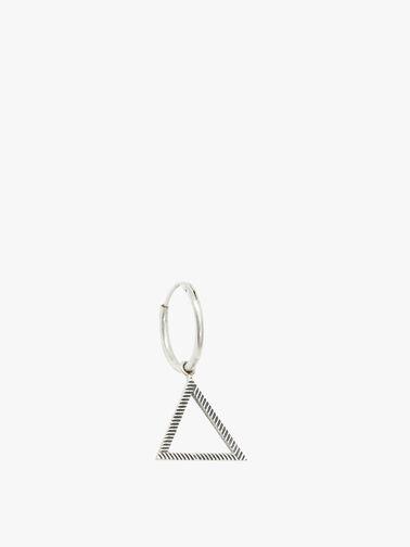 Silver Pyramid Earring