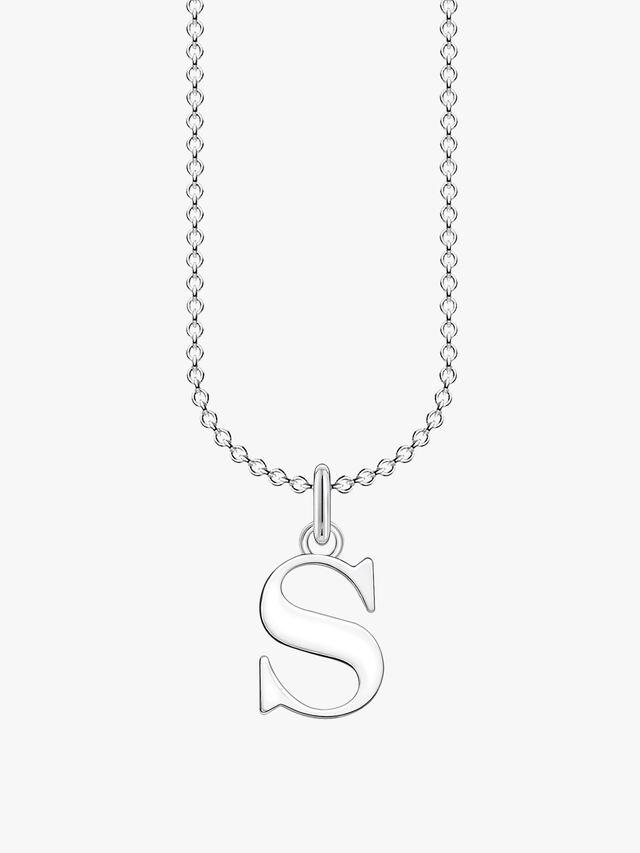 S Letters Pendant Necklace