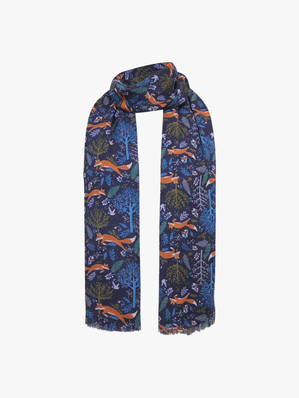 Foxes Print Scarf