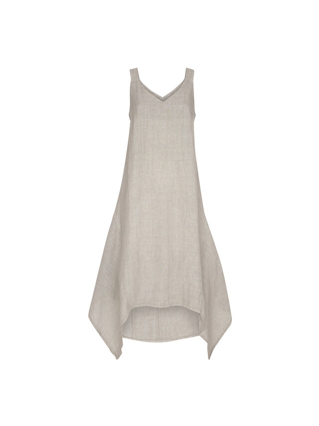 Strappy Linen Dress