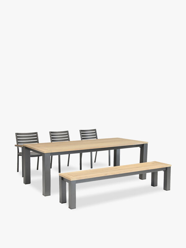 Elba 6 Seat Dining Table Set with Bench