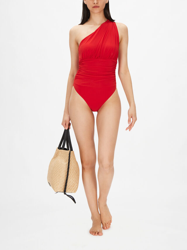 Penny One Shoulder Ruched Swimsuit
