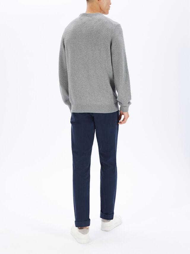 Honeycomb Crew Neck Sweatshirt