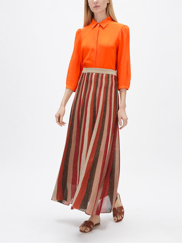 Ofelia Lurex Stripe Knitted Skirt