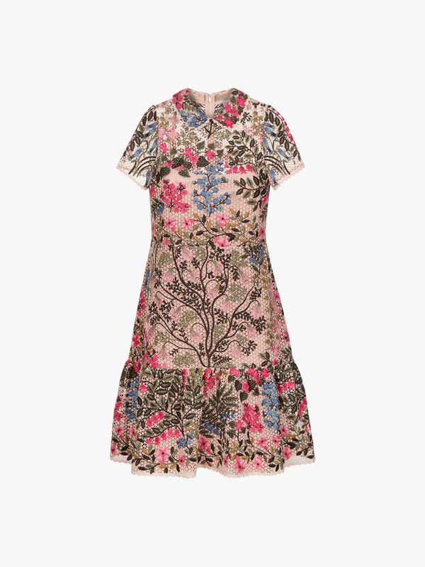 Mid Length Floral Dress