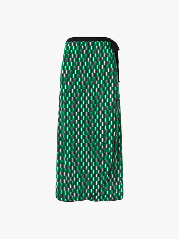 Maxi Ribbon Wrap Skirt