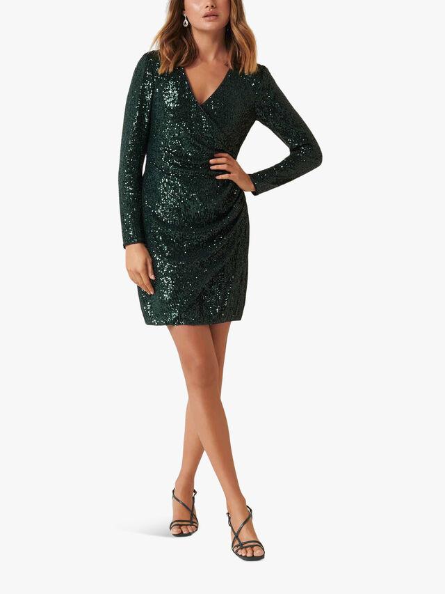 Jessica Long Sleeve Sequin Dress