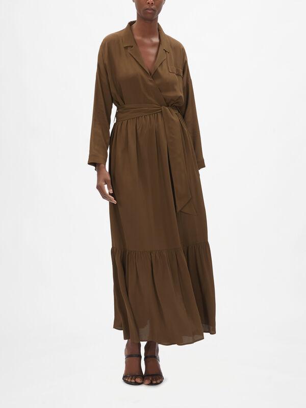 Bacco Wrap Maxi Dress
