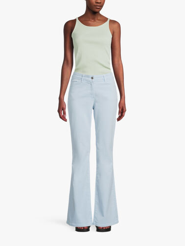 Proibito-Flared-Cotton-Jeans-71340121P