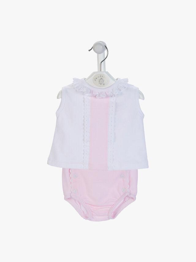 Ruffle Sleeveless Top with Pants