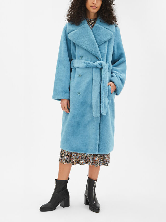 Happy Faux Fur Coat