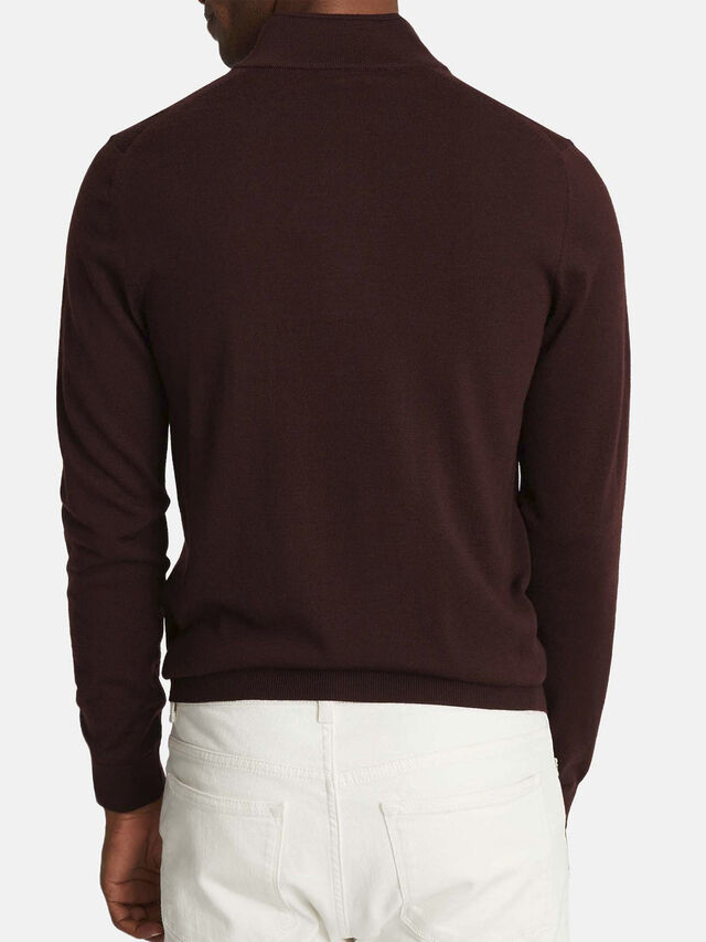 Blackhall Merino Wool Zip Neck Jumper